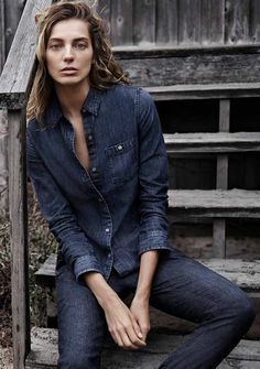 Daria Werbowy for AG Jeans Fall 2014