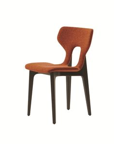 Open back fabric chair CIRCA Les Contemporains Collection by ROCHE BOBOIS design Cédric Ragot