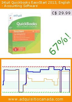 Intuit Quickbooks EasyStart 2013, English - Accounting Software (CD-ROM). Drop 67%! Current price C$ 29.99, the previous price was C$ 91.99. http://www.adquisitiocanada.com/intuit/quickbooks-easystart-2013