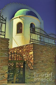 A small picturesque church on the island of Syros