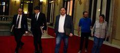 Puigdemont i Junqueras es reuneixen amb la CUP perquè no sevidenciïn les seves diferències en la votació de lATLL