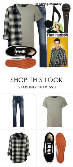 """Glee- Finn Hudson"" by tell-me-pretty-lies ❤ liked on Polyvore featuring Armani Jeans, Numero00, Rails, Vans, Hudson Jeans, men's fashion and menswear"