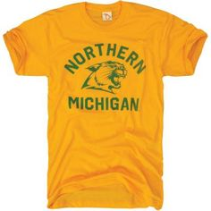 The Mitten State Men's Northern Michigan Wildcats State Of Michigan, Northern Michigan, Lake Michigan, The Mitten State, Upper Peninsula, Mittens, College, Sports Teams, Mens Tops