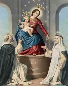 """On October Pope John Paul II signed the Apostolic Letter """"Rosarium Virginis Mariae"""" and proclaimed a """"Year of the Rosary"""" Praying The Rosary, Holy Rosary, Blessed Mother Mary, Blessed Virgin Mary, Our Lady Of Pompeii, Ignatius Of Antioch, Saint Dominique, Pictures Of Mary, Joseph"""