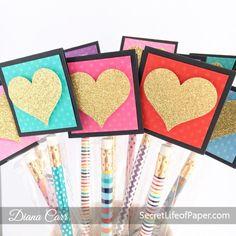 Heart of Gold - DIY Pencil Valentines | Secret Life of Paper  #diyvalentines #kidsvalentines #classroomvalentines