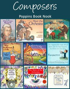 July Poppins Book Nook: Composers - 3Dinosaurs.com