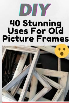 Diy Furniture Cheap, Diy Furniture Projects, Woodworking Projects Diy, Upcycled Furniture, Diy Frame, Frame Crafts, Old Picture Frames, Diy Store, Diy Wood Signs
