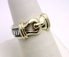 SS/14k David Yurman cable and hook ring benchmarkgembrokers.com