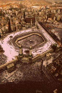 SubhanaAllah awesome picture of Masjid al-Haram   Mecca, Saudi Arabia