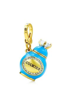 "COOKIE JAR CHARM $58.00 STYLE NUMBER: YJRU7917   Add to wish list ADD TO BAG Special Offer 40% off Jewelry  DETAILS DESCRIPTION Cookie-nistas, here is the charm that you've been waiting for! Juicy logo on lobster clasp. Cubic Zirconia/Brass/Glass Imported 1.3"" L"