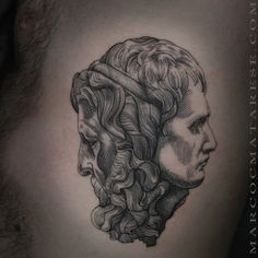 Two faces. Marco C. Matarese tattoo | Etching, linework, engraving. Milan…