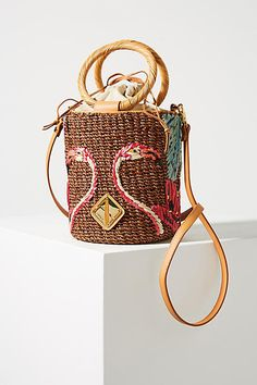 Aranaz Cecilia Embroidered Bucket Bag