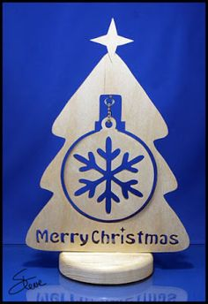 One Ornament Christmas Tree Scroll Saw Pattern.