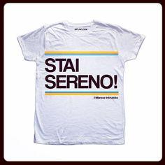 Tshirt Man Stai Sereno  http://www.therockstore.it/products/bflak-by-m-i-br-stai-sereno-man