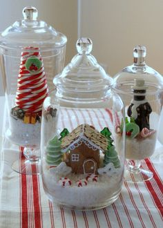 Edible Terrariums For The Holidays! --> http://www.hgtvgardens.com/crafts/edible-holiday-terrariums?soc=pinterest