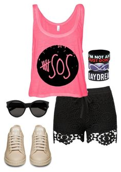 5SOS #305 by ambere3love34 on Polyvore featuring Yves Saint Laurent, 5sos, 5secondsofsummer, 5sosfam and 5sosoutfits