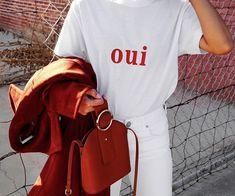 """oui"" love 💌 wearing margaux in sugar Style Outfits, Cute Outfits, Fashion Outfits, Womens Fashion, Street Looks, Street Style, Spring Summer Fashion, Winter Fashion, Oui Oui"