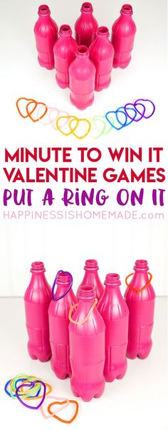 Valentine Minute to Win It Games - These Minute to Win It Valentine Games will be the hit of your Valentine's Day party! Valentine Minute to Win It Games for kids and adults – everyone will want to play!