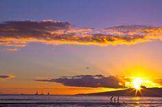 Beautiful Waikiki sunset