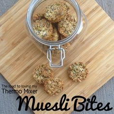 Nut, egg free muesli bites. Make dairy free by subbing butter for coconut oil.