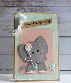 #mariannedesign | #collectable COL1384 Eline's elephant | #craftable CR1323 Punch Die Flowers