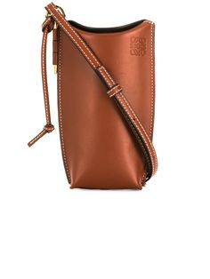 Loewe Gate Pocket Classic Calf Leather Bucket Bag In 7889 Brown Brown Leather Crossbody Bag, Mini Crossbody Bag, Crossbody Shoulder Bag, Leather Purses, Leather Bag, Shoulder Bags, Blue Handbags, Satchel Handbags, Purses And Handbags
