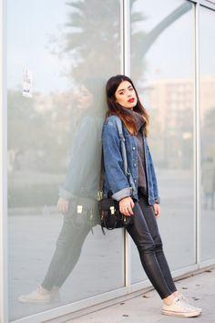 Jacket: Sweet Market / Sweater: Buylevard (here) / Pants: Zara / Bag: Phillip Lim / Shoes: Converse