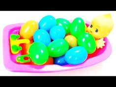 Learn Colors with Baby Doll BathTime in Colored Surprise Eggs  Baby Bath Toys Video for Kids