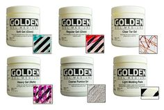 Golden Gel Mediums and Molding Pastes by ArtiqueMixedMedia on Etsy