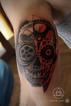 mechanic-skull-by-Piotr-Szot-Bielsko-Biala-Poland-skull-tattoos.jpg (400×600)