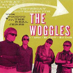 The Woggles gig poster (2013)