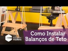 Aprenda a Instalar e Fazer Nós para Balanços de Teto! - YouTube E Design, Ladder, Diy, Wooden Swings, Timber Ceiling, Kids Swing, Multifunctional Furniture, Bedroom Decor, Ideas