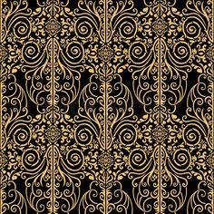 Schöne abstrakt, Royal, Damast, Vintage, reichen nahtlose Muster, Luxus, Ornament, künstlerische vektor Wallpaper, floral, älteste Stil gestaltet Arabeske Stoffe für Dekoration und Design | Stock-Vektor | Colourbox on Colourbox