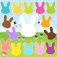 80% OFF SALE Easter bunny silhouette clipart commercial use, easter bunny vector graphics, easter digital clip art, digital images  - CL1071 by Prettygrafikdesign on Etsy
