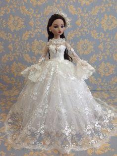 """Bestty_ Doll Gown Outfit Dress Tonner ellowyne 16"""" dolls.OOAK #Bestty_doll"""