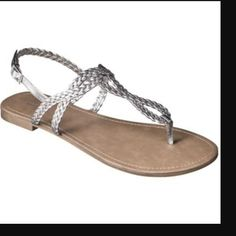 FLASH SALE PRICE FIRM Target Esma sandals Brand new still have tags. Color is pewter. No trades! Merona Shoes Sandals