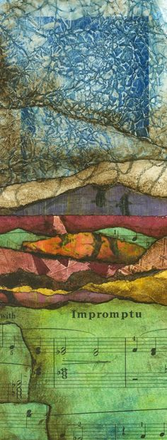 Collage art of Laura Lein-Svencner: abstract landscape collage