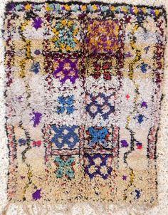 berber rag rug/carpet van BOUCHEROUITE op Etsy