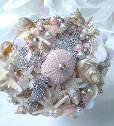 diy seashell and brooch wedding boutique - Google Search