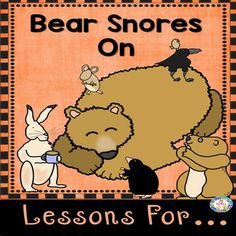 This 5 day 90 page lesson plan for the book Bear Snores On is perfect for your winter unit and  includes many differentiated activities for your first and second grader students.  There are 4 levels of a student reader which deals with hibernation.  A differentiated center activity and differentiated worksheets.