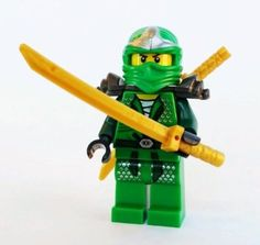 Amazon.com: Lloyd ZX (Green Ninja) with Dual Gold Swords - LEGO Ninjago: Toys & Games