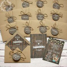 Приглашение в конверте, Деревянный рустик, коричневый, дерево, рустик, рустикальная свадьба, деревянный, rustic, wood, lights, invitation, wedding, stationery, приглашения, свадьба