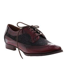 Another great find on #zulily! Burgundy Kaci Leather Oxford by nicole #zulilyfinds