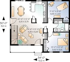Bungalow Country Ranch House Plan 65009