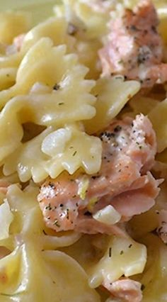 Salmon and Pasta with Lemon Dill Sauce