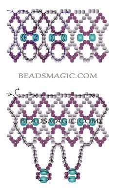 Free pattern for necklace Trouvaille | Beads Magic