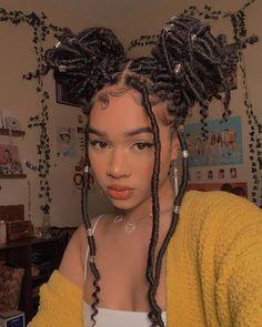 Faux Locs Hairstyles, Black Girl Braids, Braided Hairstyles For Black Women, African Braids Hairstyles, Baddie Hairstyles, Braids For Black Hair, Girls Braids, Pretty Hairstyles, Girl Hairstyles