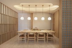Esora by Takenouchi Webb : Honeycomb Paper Covers a Skylight in This Hip Japanese Restaurant Japanese Restaurant Interior, Japanese Interior, Restaurant Interior Design, Restaurant Interiors, Cafe Interiors, Design Interiors, Cafe Restaurant, Cafe Bar, Japanese Bar