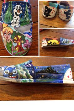Hand painted disney shoes
