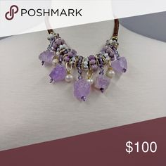 Handmade amethyst necklace!!! Handmade gorgeous amethyst with freshwater pearl necklace!! Jewelry Necklaces